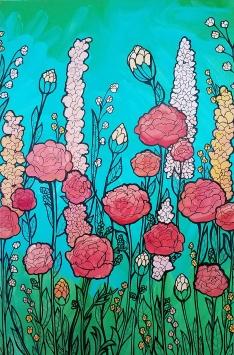 Mandel Cameron_Flower Painting_2017
