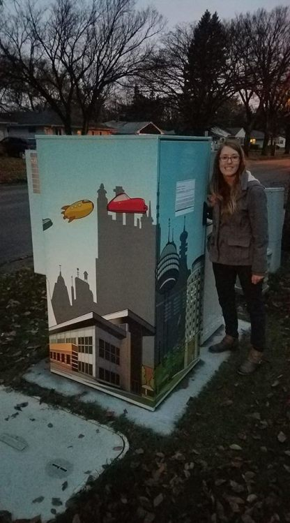 "Moorhead Utility Box Art - ""Future of Moorhead"""